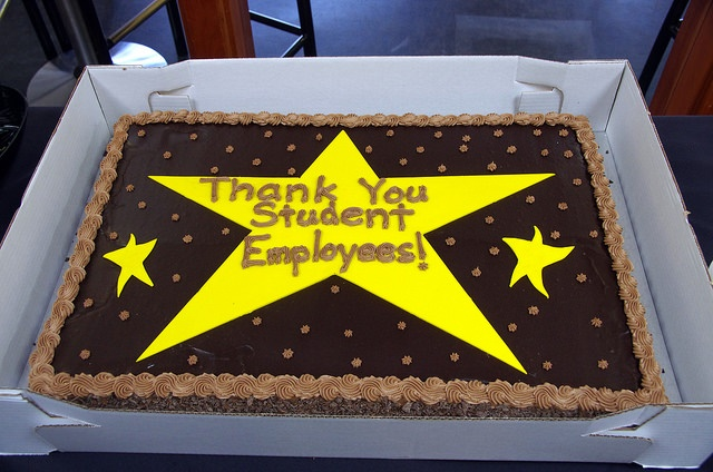 student employee appreciation cake