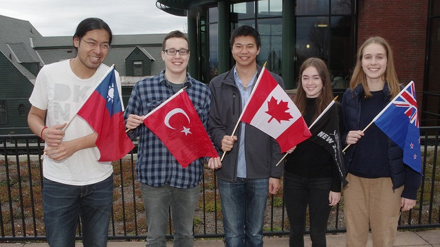 students from abroad at champlain college 2016