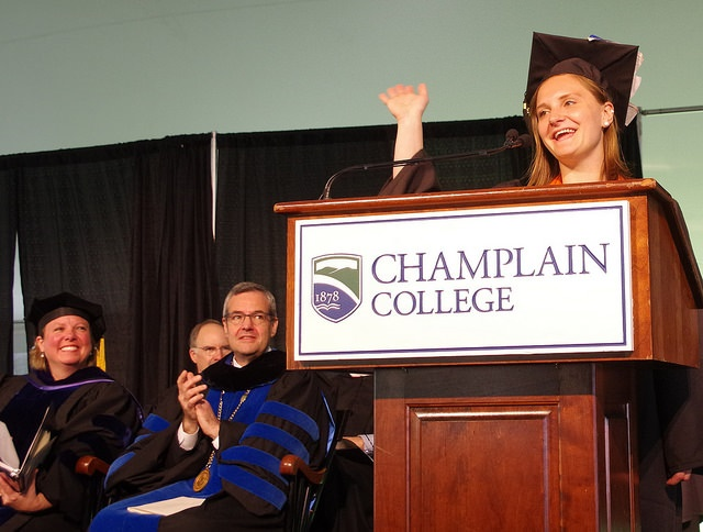 champlain college commencement 2016, graduate school