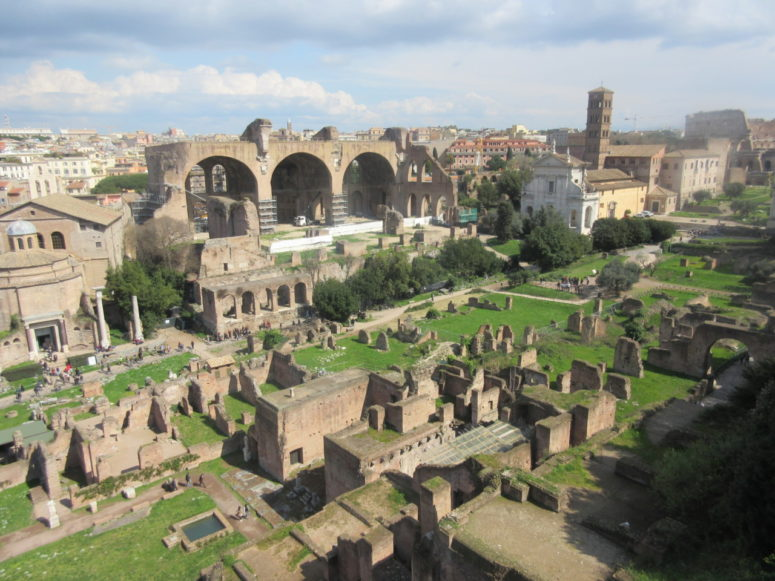Ancient Roman ruins in Rome, Italy